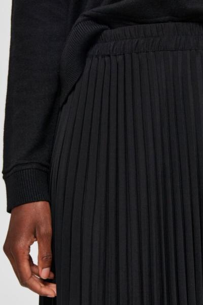 Geplooide middellange rok