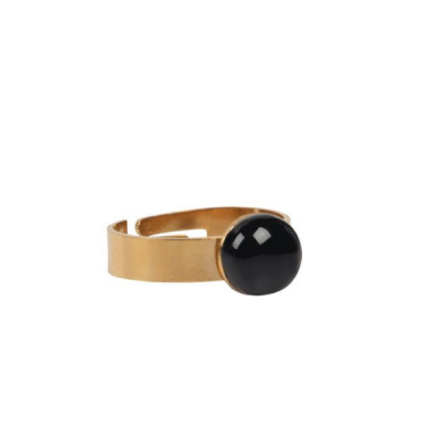 Ringetje goud met edelsteen - one size