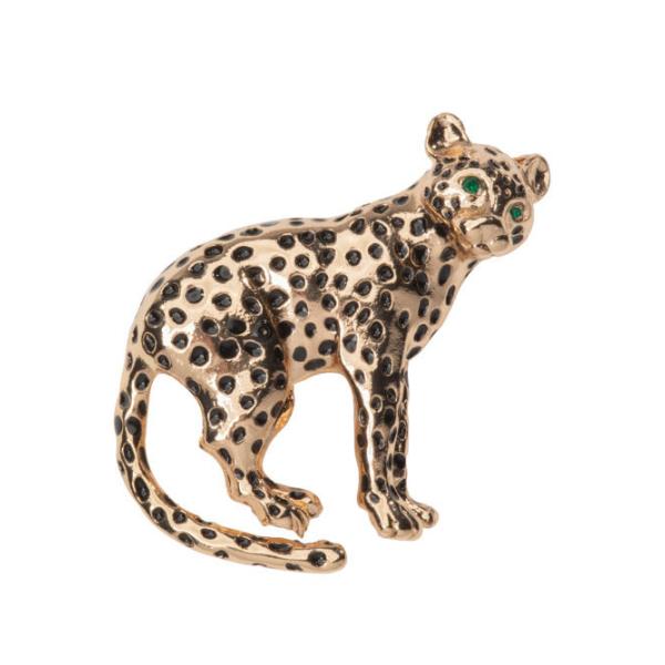 """leopard "" broche"