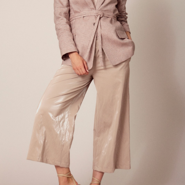 Delphine coated culotte Sand