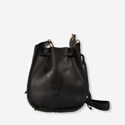 Faux Leather Bag Black