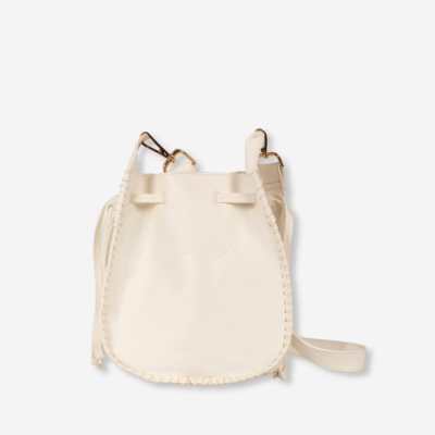 Faux Leather Bag Creamy White
