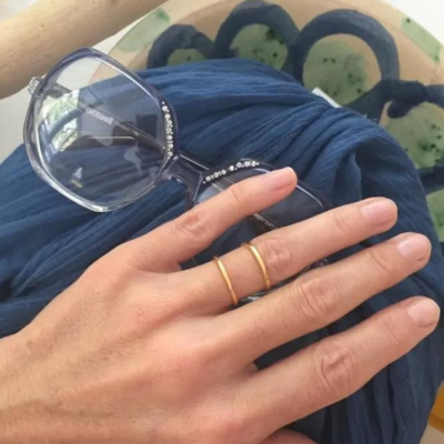 Dubbele gouden ring